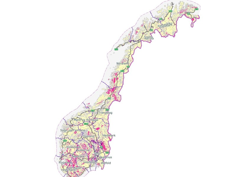 kart over radonforekomster i norge Radon – slik sjekker du om du er utsatt | Huseierne kart over radonforekomster i norge