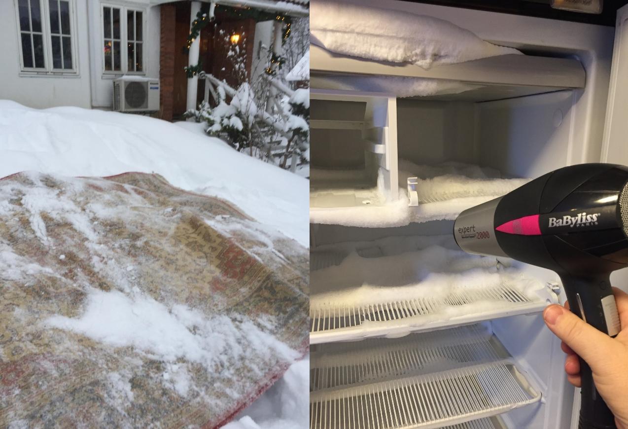 Rens teppene i snøen | Huseierne