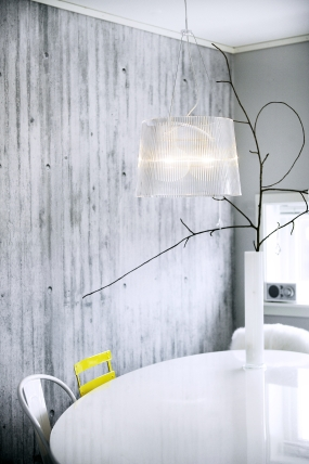 JUKS: Tom Haga i Stavanger ønsket seg betongvegg i stuen, og så for ...